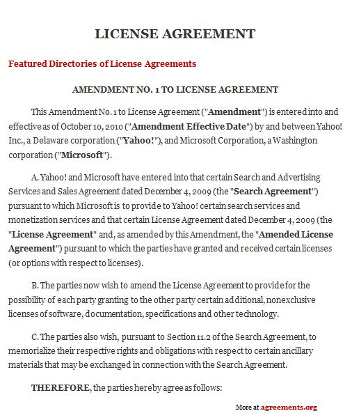 License Agreement Template Download Word Pdf Agreement