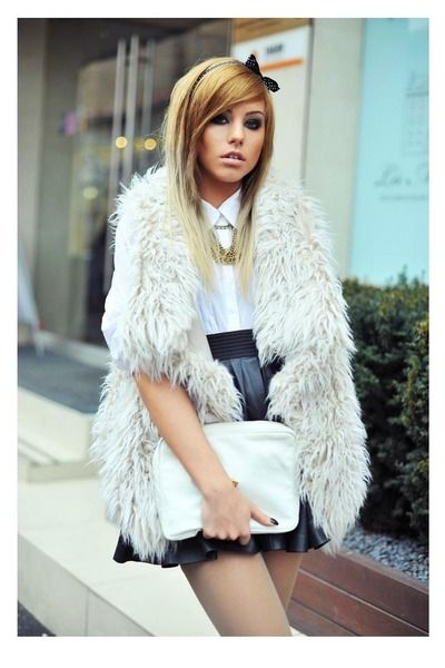 How to wear: White Fur Jackets and Vests
