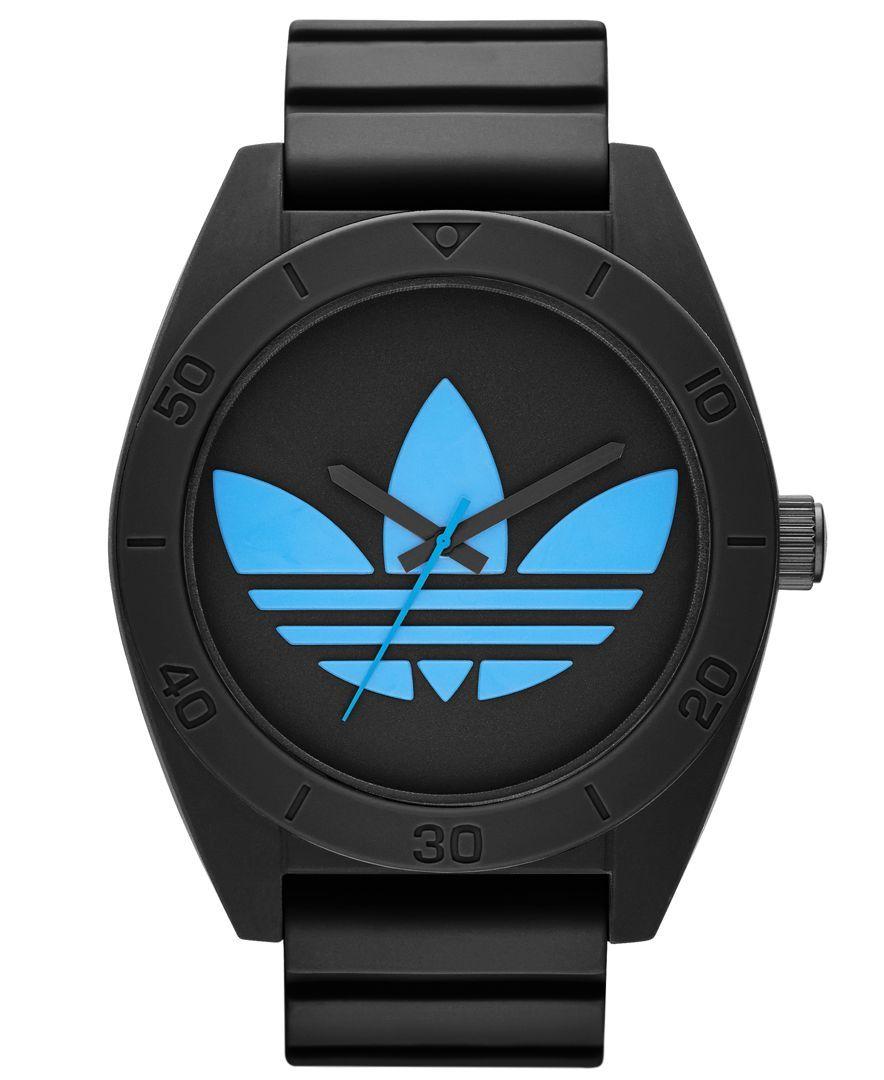 nett adidas Watch, Men's Black Silicone Strap 50mm ADH2882  zu verkaufen