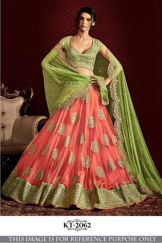 6e16bbb50 Semi Stitched Nylone Net Lehenga Choli | Traditional | Indian ...