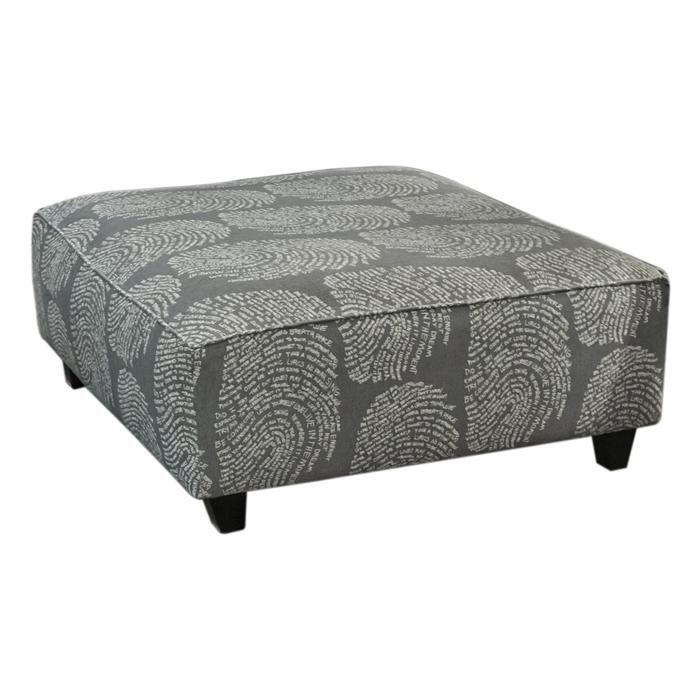 $229 Cocktail Ottoman In Fingerprint Pewter   Nebraska Furniture Mart