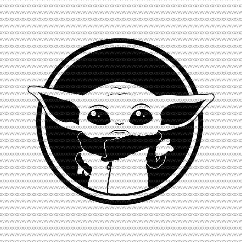 Baby Yoda Svg The Mandalorian The Child Baby Yoda Png Star Wars Svg Png The Child Png T Shirt Design For Sale In 2020 Star Wars Decal Star Wars Stencil