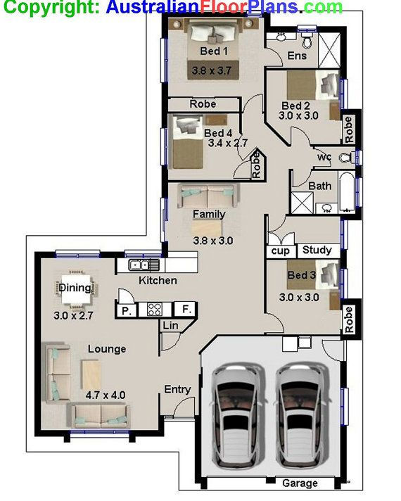175 m2 narrow lot 4 bedroom house plans by for 2 bedroom house plans australia