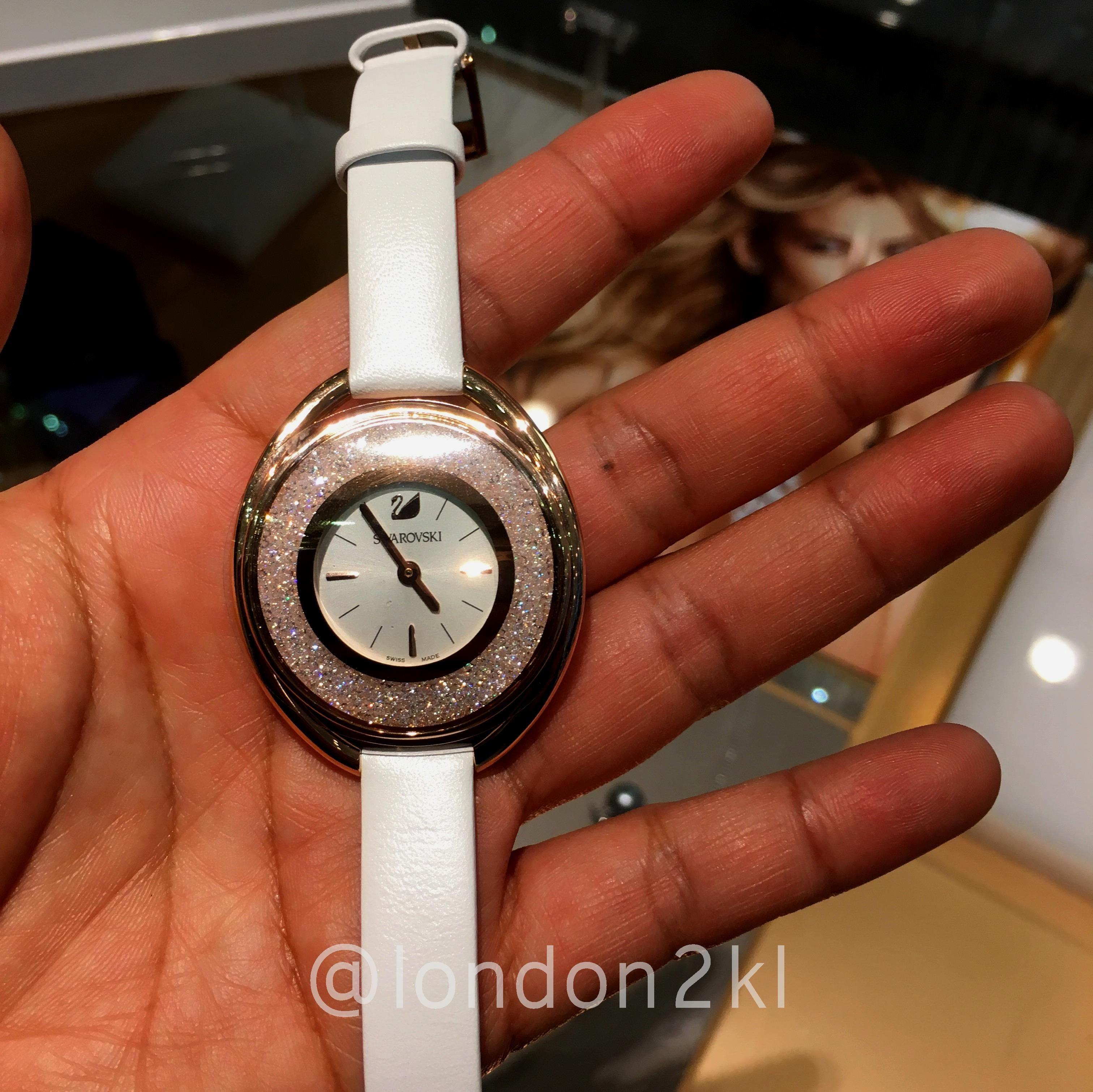 Swarovski Watch in White Strap RM1,450 ❤it? Reserve it before it's gone! WhatsApp us #L2KLSwarovski