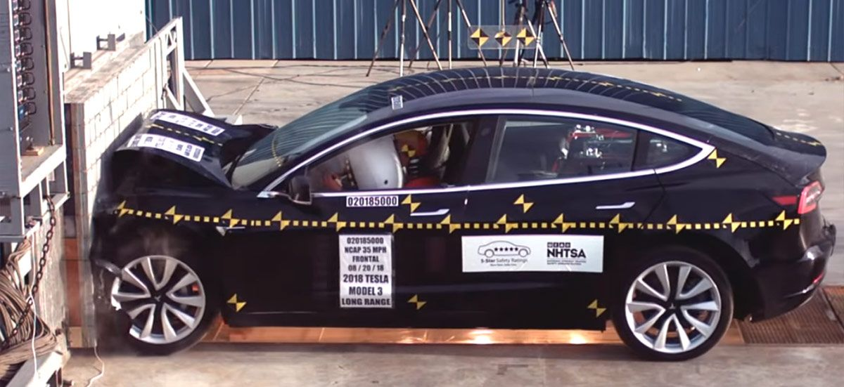 Tesla Model 3 earns 5star crash safety rating in every