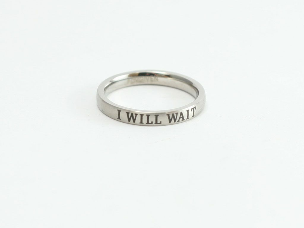 I Will Wait Stainless Purity Ring In 2019 Products