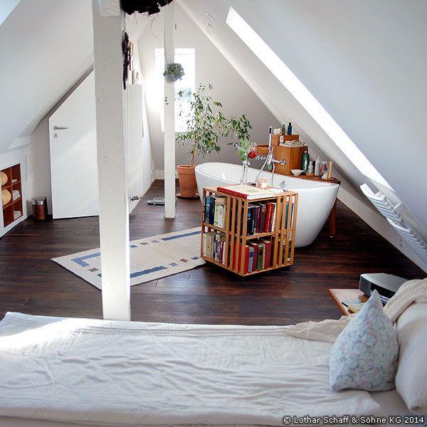 Dachausbau eines spitzbodens mit altbausanierung wohnen - Dachboden schlafzimmer ...
