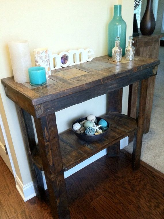 Rustic Foyer Entry Way Table. Made From By PalletWHECreations, $275.00