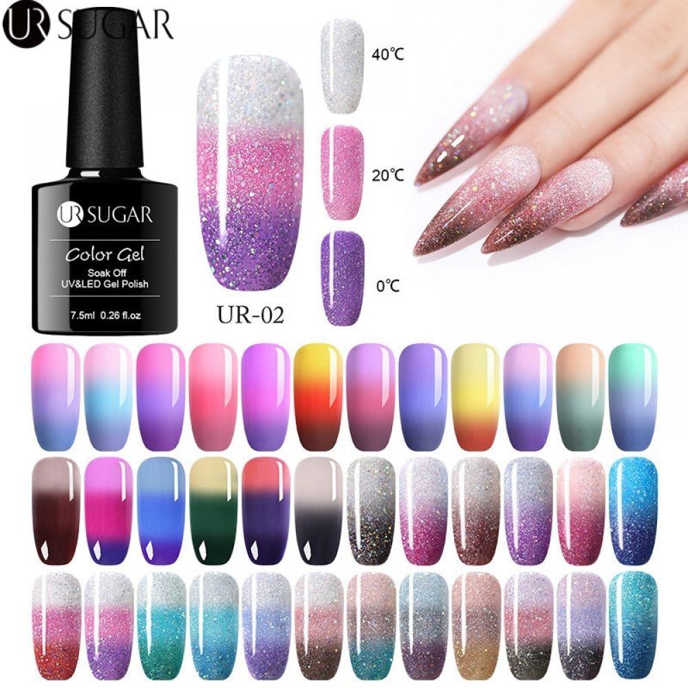 UR SUGAR Rainbow Thermal Color Changing Gel Nail Polish