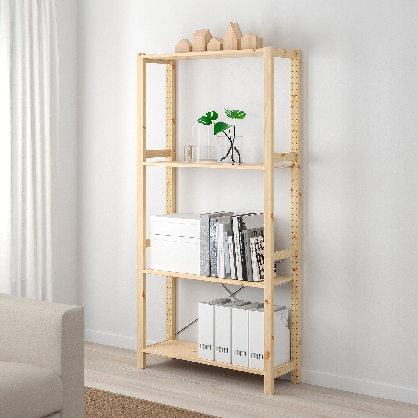 Ivar 2 Section Shelving Unit Pine 52 3 4x19 5 8x89 Shelving Unit Shelves Ikea
