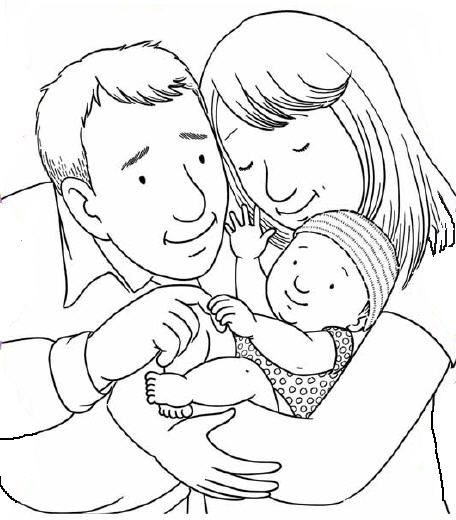 Family Baby Coloring Pages Family Coloring Coloring Pages