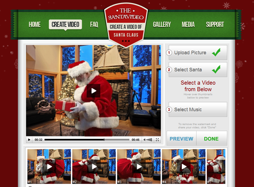 Create A High Quality Video Of Santa Claus Visiting Your Very Own
