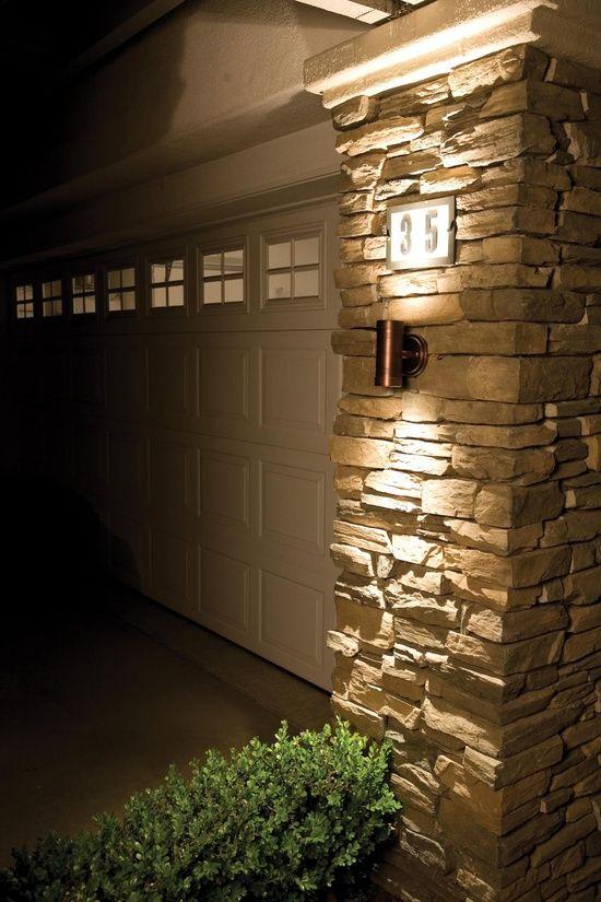 Pretty Rock By The Garage Outdoor Garage Lights Garage Lights