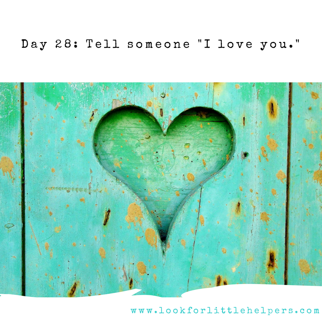 31 Day Purposeful Acts of Kindness Challenge Look for