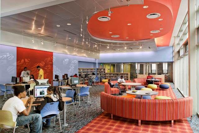 Erilaisii Muotoja Vaikuttavaa Library Interior Design Award Iida Libraries Pinterest