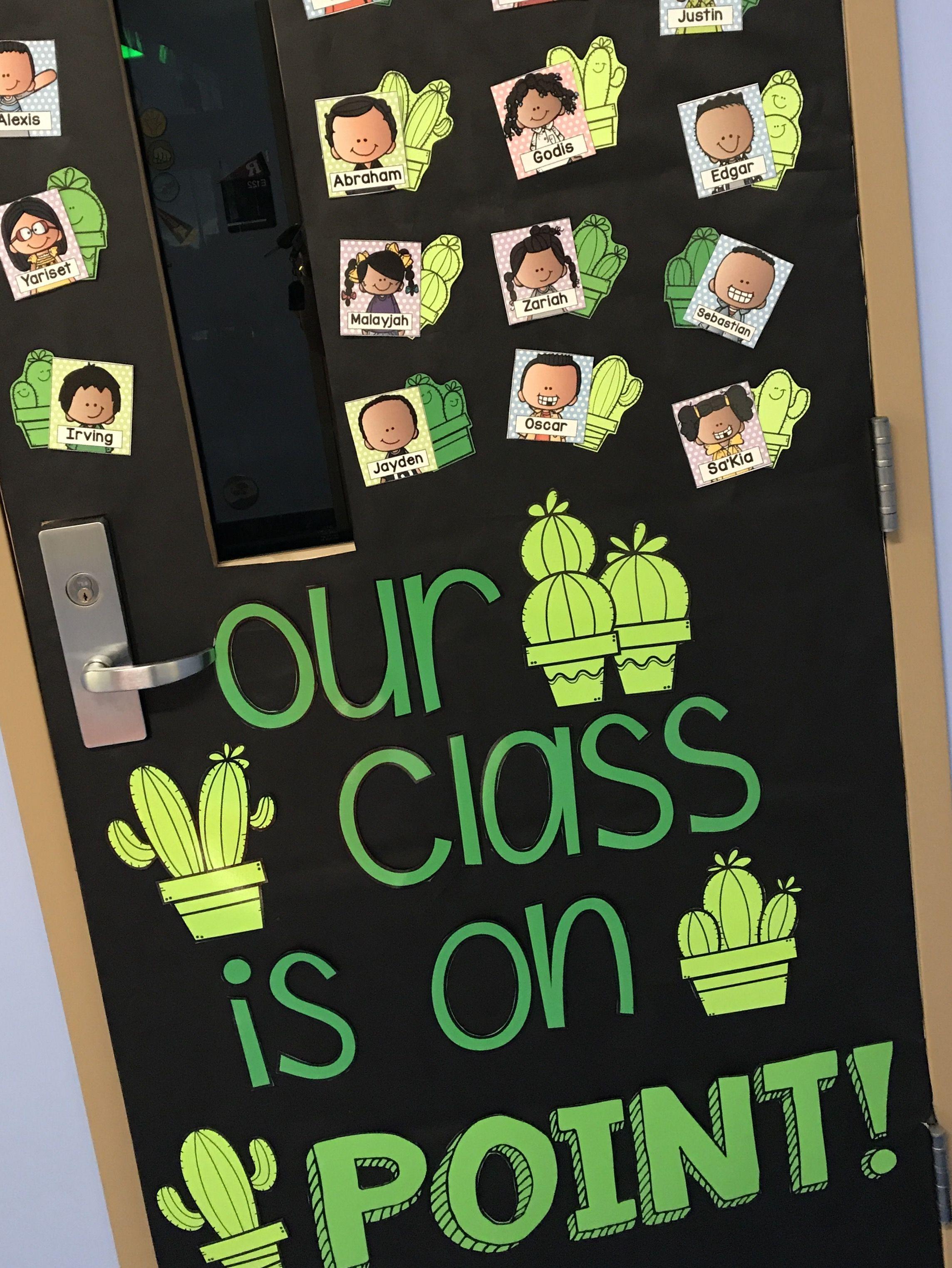 Cactus Bulletin Board Ideas Classroom Aula Periodico Mural