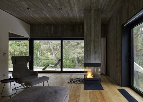 Modern Interiors · Timber Clad Seaside House ...