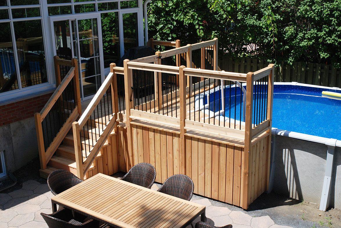 Deck piscine hors terre plan recherche google home for Plan piscine