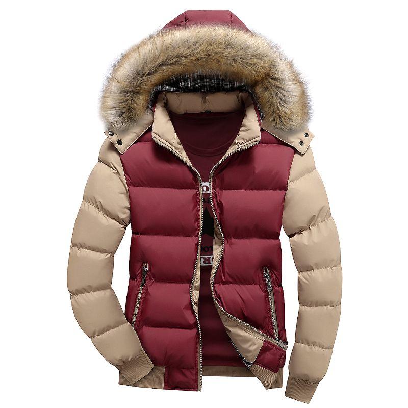 Mens parka with fur hood h&m