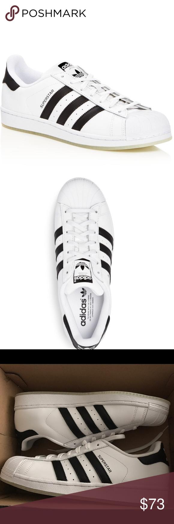 ADIDAS Superstar Men\u0027s Fashion Sneaker White/Black Brand new Adidas Men\u0027s  Superstars! Always trendy