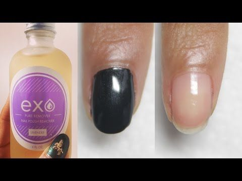 Best Natural Nail Polish Remover: Exo Pure Remover Review - YouTube ...