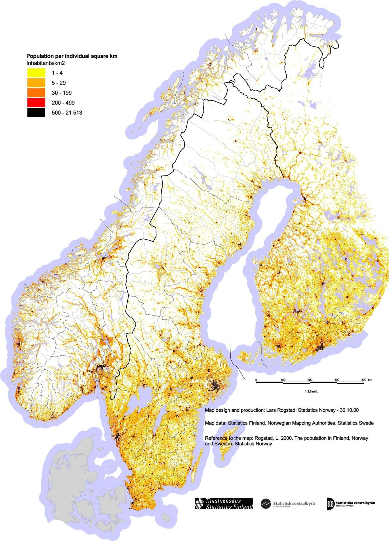 Population Density Of Norway Finland And Sweden Maps Pinterest - Sweden map population