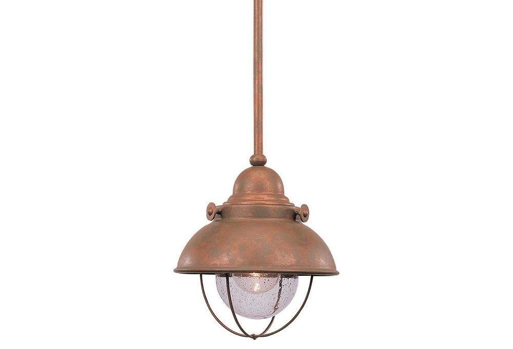 sebring copper 1 light mini pendant...