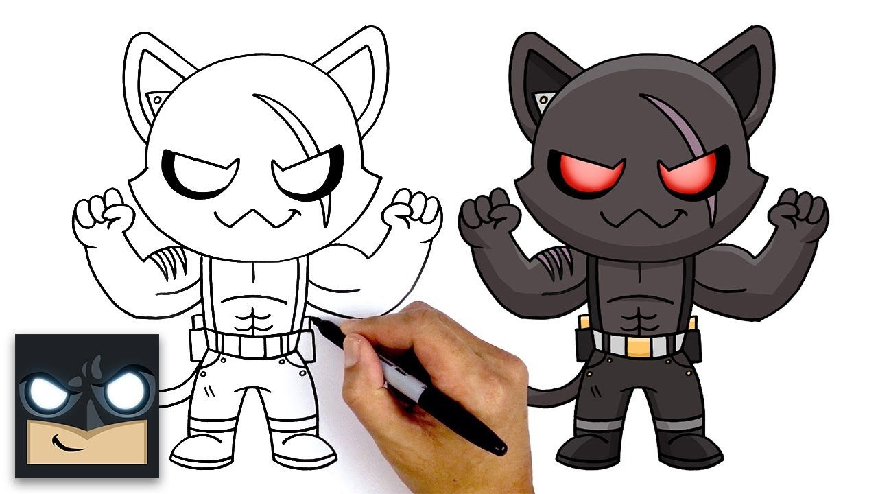 How To Draw Shadow Meowscles New Fortnite Chapter 2 Season 2 In 2020 How To Draw Shadow Graffiti Characters Kids Painting Crafts