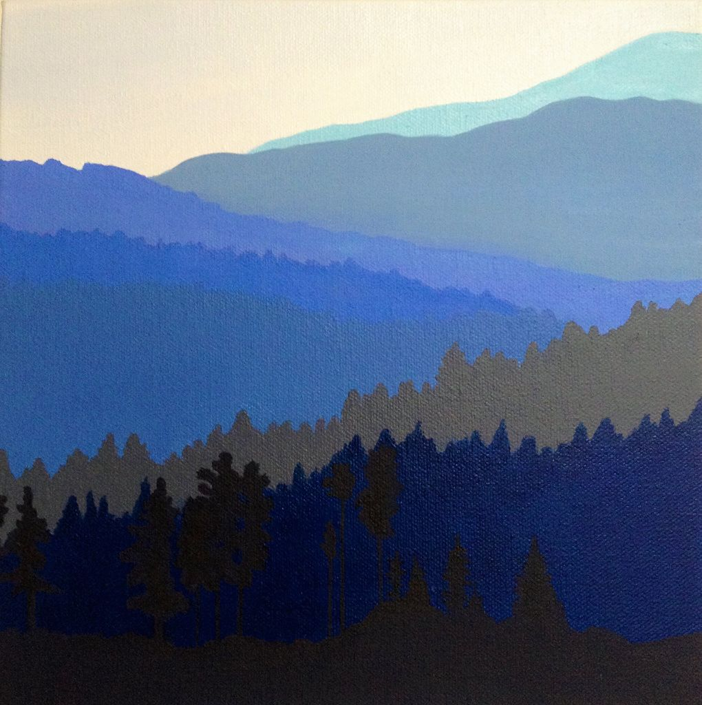 Blue Ridge Mountains Mountain Paintings Blue Ridge Mountains Mountain Canvas