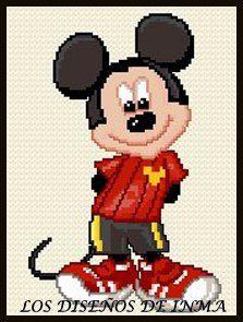 PDF Gráfico Punto de Cruz, Disney 14, Disney Punto de Cruz, Disney, Disney Cross Stitch Pattern