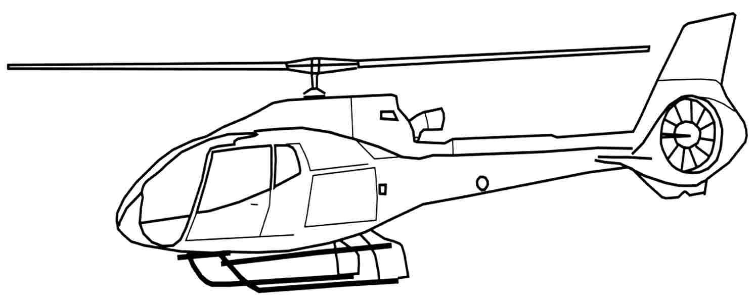 Helicopter Coloring Pages 01