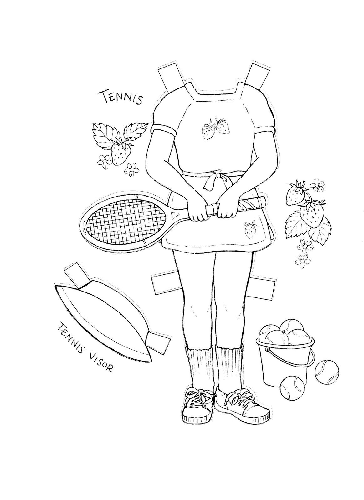 KIM'S Paper Doll Ccoloring Book {} Eight Pages of Kim's