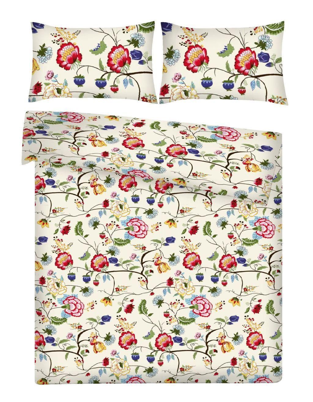 3d9aae50ba70c9 Tkanina wzór delikatny kaszubski kwiaty pnącza na kremie bawełna OSTATNI 5  m Otula.pl