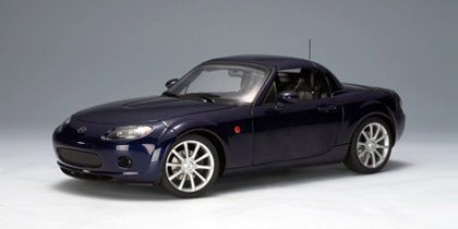 Diecast Model Mazda Mx5 2006 In Stormy Blue Awesome Model Cars