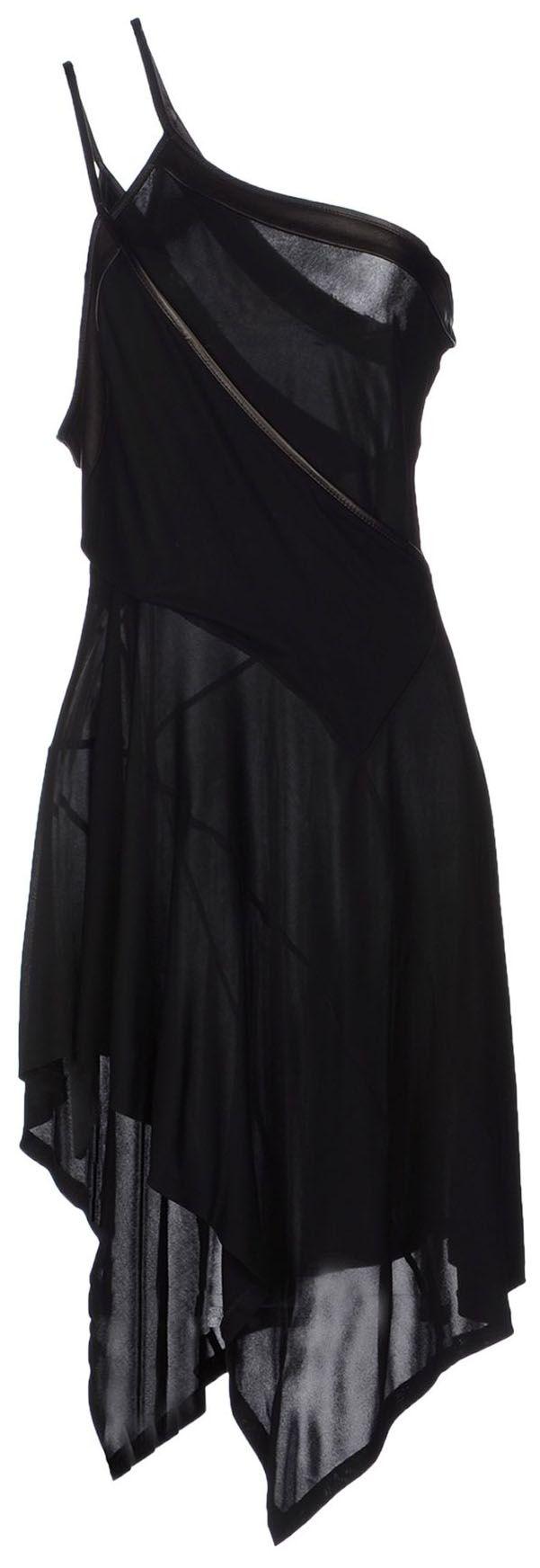 Barbara bui short asymmetrical hemline black dress pins and