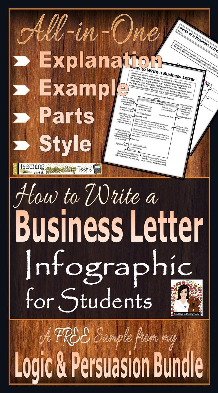 How To Write A Business Letter Infographic For Students Freebie For Teachers Business Letter Business Letter Example Explanation Writing