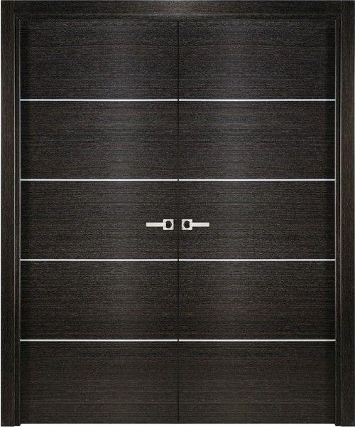 Avanti 2 Modern Interior Double Door Italian Black Apricot Decorative Doors Interior Modern Double Doors Interior Doors Interior