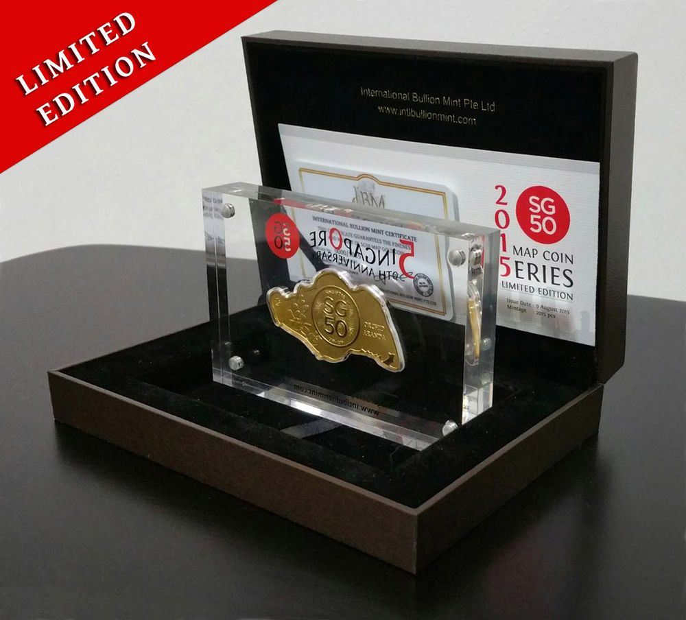 SG50 Map Coin Gold 2 Oz Limited Edition Series
