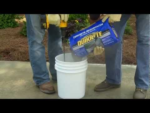 How to use quikrete concrete resurfacer the home depot - Exterior concrete leveling products ...