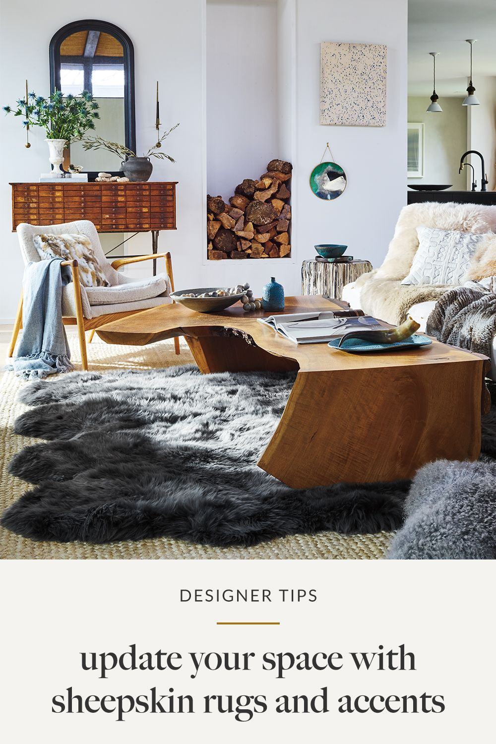 10 Stunning Sheepskin Rug In Living Room