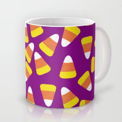 Candy Corn Jumble Purple Background Mug By Lisa Argyropoulos 15 00 Mugs Candy Corn Black Backgrounds