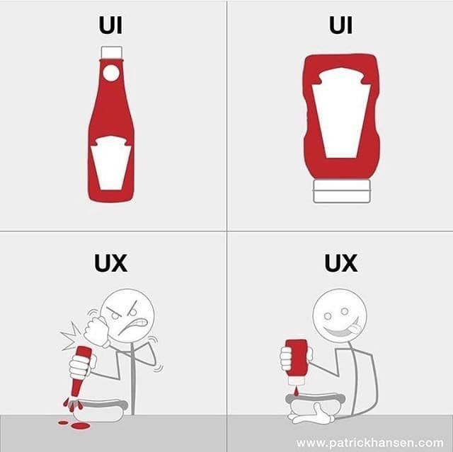 Image result for ux ui explained ketchup meme #softwaredesign
