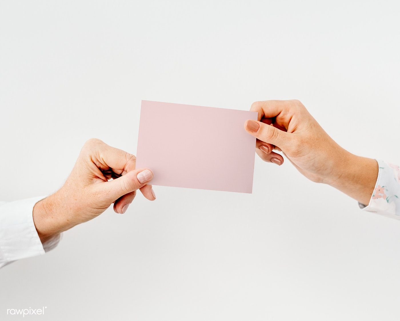 Hands Holding A White Card Mockup Free Image By Rawpixel Com Hand Holding Card Business Card Mock Up Photo Business Cards