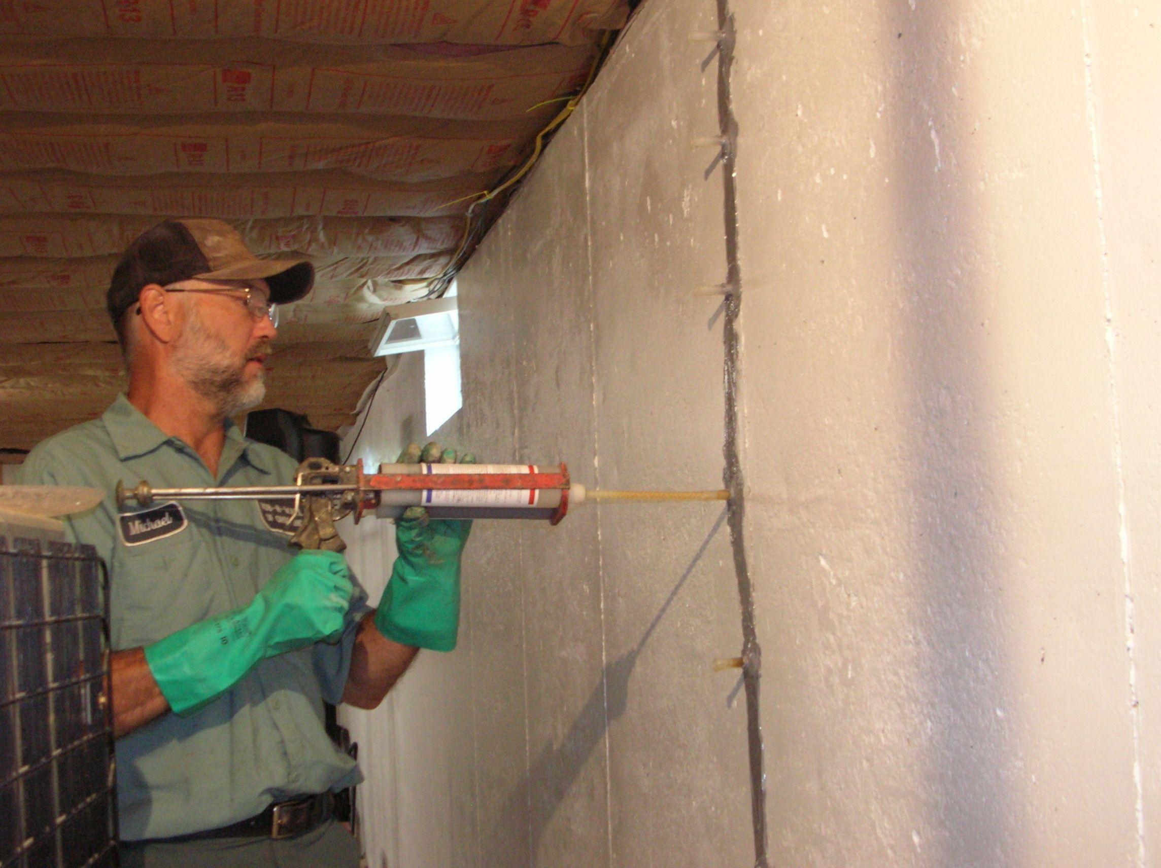 Fixing Basement Wall Cracks From Inside Basement Walls Basement Contractors Basement
