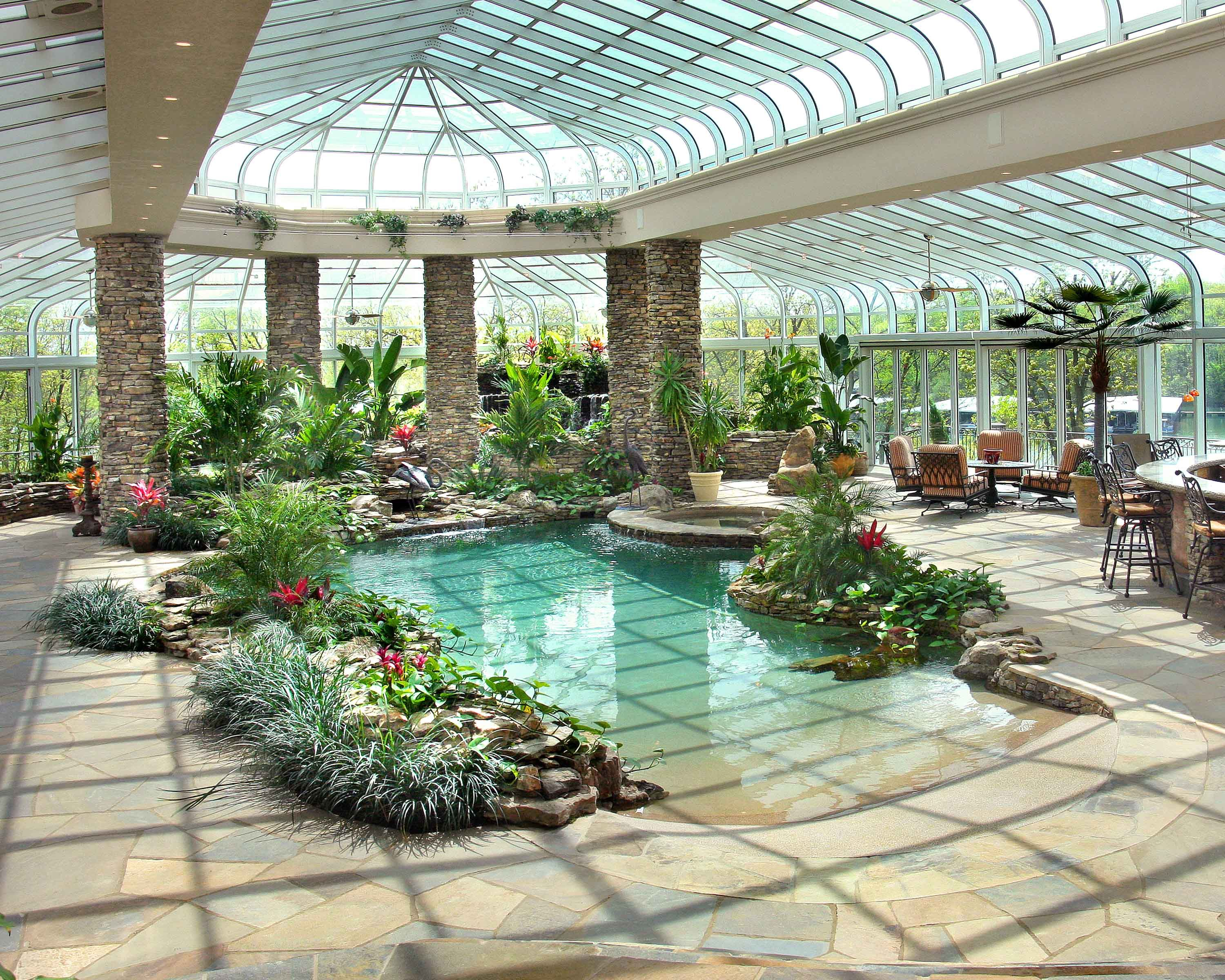 magnificent doesn 39 t even describe this grand oasis pool enclosure it is complete with two ponds. Black Bedroom Furniture Sets. Home Design Ideas