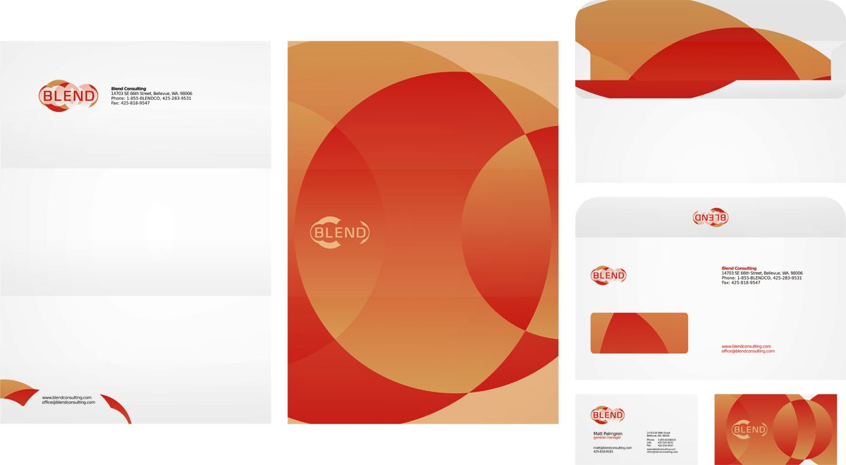 Blend consulting company, stationery design, letterhead design ...