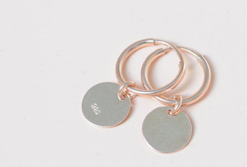 Creolen - Creolen Ohrringe Ohrhänger rosegold 925er - ein Designerstück von…