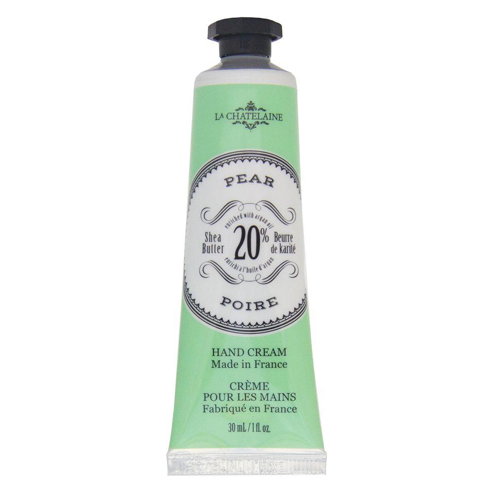 La Chatelaine 20% Shea Butter French Hand Cream Coconut Milk Travel Size 1 oz, Organic Argan Oil, Extra Rich Hand Care, Moisturizing, Nourishing,