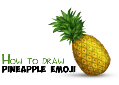 How To Draw A Pineapple Emoji Easy Step By Step Drawing Tutorial How To Draw Step By Step Drawing Tutorials Pineapple Emoji Pineapple Step By Step Drawing