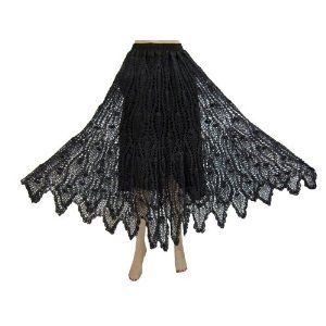 Womens Bohemian Skirts Charcoal Black Crochet Gypsy Skirt Long Skirt (Apparel)  http://documentaries.me.uk/other.php?p=B007U1YW4M  B007U1YW4M